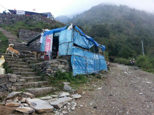 Sun & Moon Cafe near Gallu Devi Temple on Triund Trek