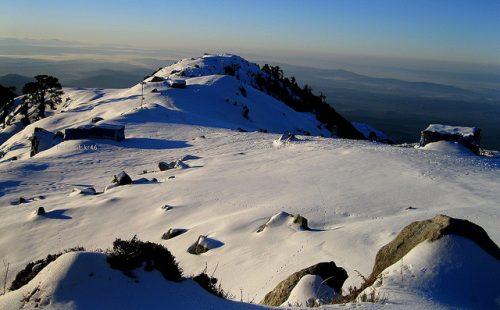 Triund Hill in Snow