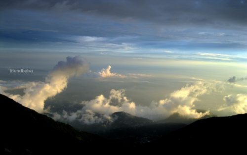 Final Steps of Magic Show by Clouds with Sun rays as seen from Triund