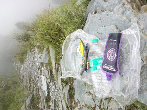 Trail of Triund Hill wth Garbage