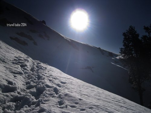 Snowy Trail to Triund Hill