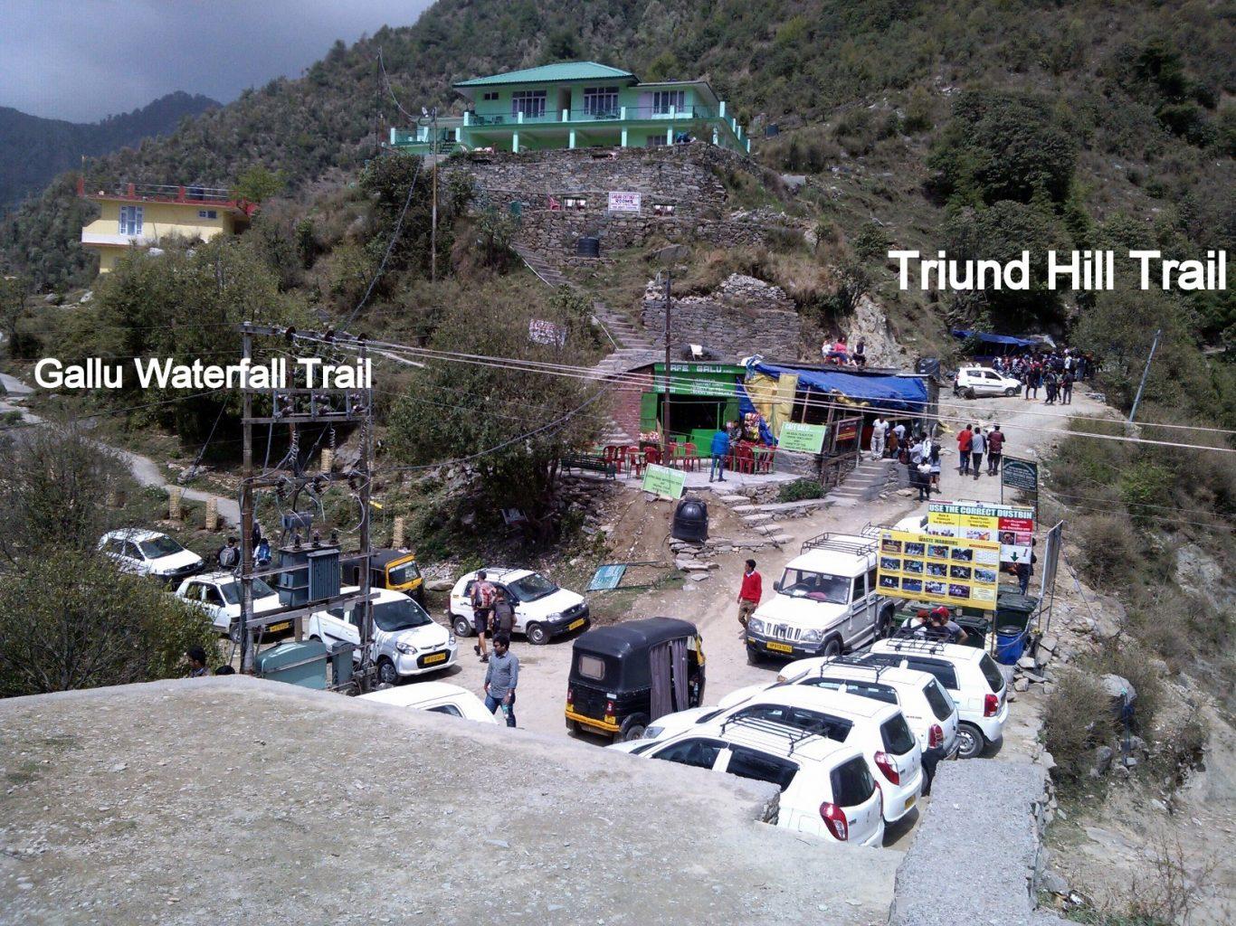 Gallu Waterfall Trail from Gallu Devi Temple